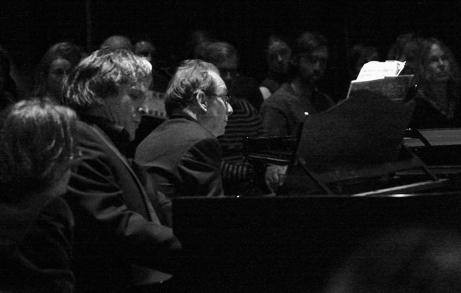 Cristian Niculescu und Jeremy Menuhim - Bartok: Sonate für 2 Klaviere und Schlagzeug in der Berliner Gedächtniskirche