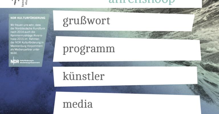 Kammermusiktage Ahrenshoop 2015